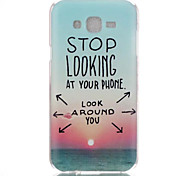 Sunrise Pattern PC Material Phone Case for Samsung Galaxy J1/J120/J5/J510/J7/J710