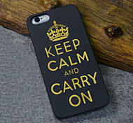 Black Wood British Empire World War Famous Aphorism Keep Calm and Carry On Hard Back Cover for iPhone 6s/iphone 6
