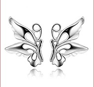 925 Silver Sterling Silver Jewelry Earrings Sample Butterfly Stud Earring 1Pair