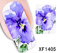 Fashion Sexy Water Transfer Foil Nail Stickers Nail Stickers Nail Design Tool Crabapple