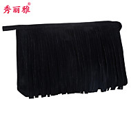 Makeup Storage Cosmetic Bag / Makeup Storage Polyester Tassel Quadrate 23x7x15cm Black / Red / Purple