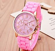 Ladies Fashion Golden Vertical Stripes Belt Quartz Watch