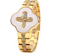 Lady Quartz Watch wtih Flower Shaped Dial