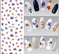 Big Page Water Transfer Printing Colours Petunia Nail Stickers