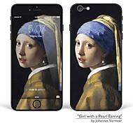 """iPhone 6 más / 6s más adhesivo arte corporal: """"La joven de la perla"""" de Johannes Vermeer (obras de la serie)"""