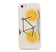 Orange Bike Pattern TPU Soft Case Phone Case for iPhone 5/5S