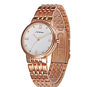 SINOBI Men's Wrist watch Water Resistant / Water Proof Sport Watch Quartz Alloy Band Rose Gold