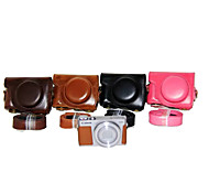 Dengpin PU Leather Camera Case Bag Cover with Shoulder Strap for Canon PowerShot G9 X (Assorted Colors)