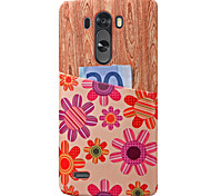 PU Leather Graphic Mixed Color Back Cover Case For LG G3/G4