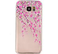 perzik bloesem patroon TPU hulp Cover Case voor Galaxy S7 / galaxy S7 edge / galaxy s7 rand plus