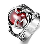 Муж. Массивные кольца Уникальный дизайн Мода бижутерия Нержавеющая сталь Циркон Цирконий В форме черепа Бижутерия Бижутерия Назначение