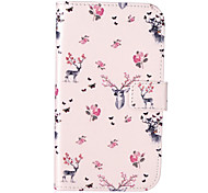 Deer Pattern Embossed PU Leather Case for Galaxy Grand Neo