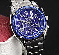 Men's European Style Fashion Steel Roman Numerals with Calendar Watch Wrist Watch Cool Watch Unique Watch
