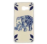 синий рисунок слон TPU мягкий чехол телефон случае для Samsung Galaxy a3 / a5 / a7 / a3 10 / A510 / A710