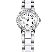 COMTEX   Women's White Ceramic Steel Watch SYL159005 Cool Watches Unique Watches