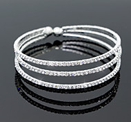 Fashion Crystal Diamond Bracelet Open Bangle for Party Women