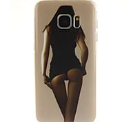 Для Samsung Galaxy S7 Edge С узором Кейс для Задняя крышка Кейс для Соблазнительная девушка TPU SamsungS7 edge / S7 / S6 edge plus / S6