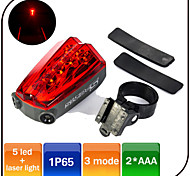 Rear Laser Bike Light /5 Mode 5 Led Bicycle Light Waterproof AAA Battery Cycling/Tail Light