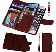 Magnetic 2 in 1 Wallet Leather+9 Card Holder+Cash Slot+Photo Frame Case for iPhone 5/5S (Assorted Colors)