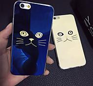 Для Кейс для iPhone 5 Чехлы панели Покрытие Задняя крышка Кейс для Кот Мягкий Термопластик для iPhone SE/5s iPhone 5