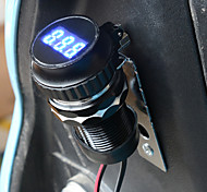 Waterproof Motorcycle USB Charger with Voltmeter