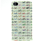 Bicycle Pattern Pattern Hard Case for iPhone 4/4S