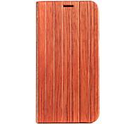Pour Samsung Galaxy Coque Avec Support / Clapet Coque Coque Intégrale Coque Apparence Bois Bois Samsung S6 edge / S6