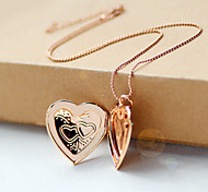 The Explosion Of Creative Fashion Short Pocket Watch Box Double Heart Necklace