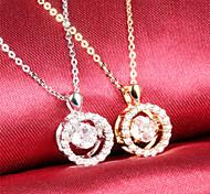 Diamond Ms 18K Gold Titanium Steel NecklacesImitation Diamond Birthstone
