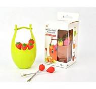 innovant seau portable forme fruit fourchette