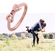 HUALUO®Woman fashion rose gold ring filler alloy ring fashion jewelry 2016 female Promis rings for couples