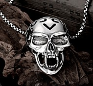 Skeleton Restoring Ancient Ways is Exaggerated Men Titanium Steel Pendant Necklace