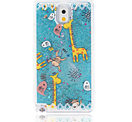 Animal Paradise Painted Quicksand PC Phone Case For Samsung Galaxy Note3/Note4/Note5 + A Touch Screen Pen