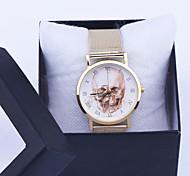 El vestido de la mujer del cráneo catrina reloj de la mujer reloj de la manera ocasional de la vendimia Reloj Reloj dama de la moda