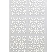 5 sheets White Metallic Design Nail Art Decal Hollow Sticker 3D Decal Manicure Decoration Accessories STZ-K22