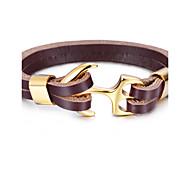 Браслеты Кожаные браслеты анкер Уникальный дизайн Мода Для вечеринок Бижутерия Подарок1шт