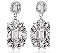 4 Colors Allergy Free Silver Plated Women Drop Earrings European Style Luxury Zircon Insert Waterdrop Earrings