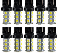 New 7440 T20 White 18 LED 5050 SMD Tail Brake Light Bulbs 10-pack
