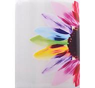 patrón de colores flores TPU de la mitad de la tableta de vuelta suave para el ipad 4/3/2