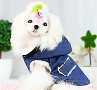 Dog Coat / Denim Jacket/Jeans Jacket Blue Dog Clothes Winter / Spring/Fall Jeans Fashion / Keep Warm