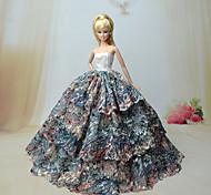 Barbie Doll - Abiti - Party & Sera - di Organza / Pizzo - Rosso / Blu - Abiti
