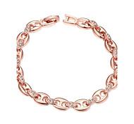 Chaînes & Bracelets ( Alliage / Strass / Plaqué Or Rose ) Mariage / Soirée / Quotidien