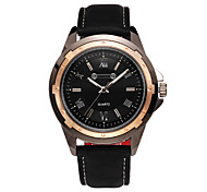 Men's Wrist watch Quartz Water Resistant / Water Proof Sport Watch Leather Band Black Brand SINOBI