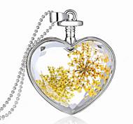 Fashion Jewelry Romantic Crystal Glass Heart Shape Floating