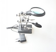 Multifunction Eectric Iron Welding Station Bracket Desktop Magnifier with Light 10 Times with LED Lights