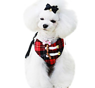 Dog Harnesses Adjustable/Retractable Red / Yellow Textile