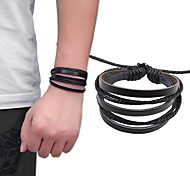 COOL New Fashion Bracelet Men European Style Leather