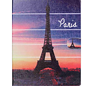 Eiffel Tower Folio Leather Stand Cover Case With Stand for iPad 4/3/2