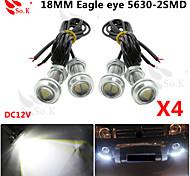 4 x 9W LED ojo de águila de niebla del coche luz diurna DRL señal de estacionamiento de reserva reversa