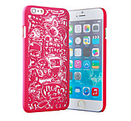 Playful Paper-Cut Color Relief Mobile Phone Protection Shell Chinese Style for iPhone 6/6S 4.7""